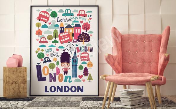 Obrázkový plakát Londýn