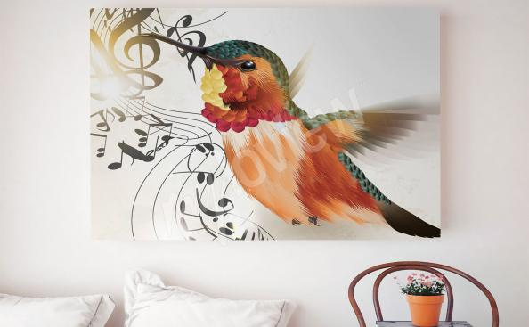 Obrazy pták do ložnice