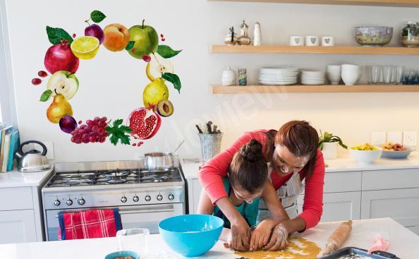 Ovocná nálepka do kuchyně