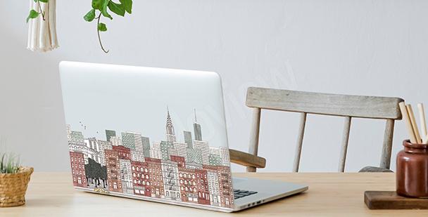 Panoramatická nálepka na notebook