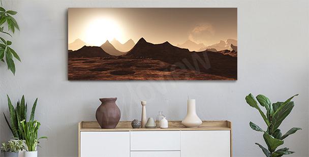 Panoramatický obraz do předsíně