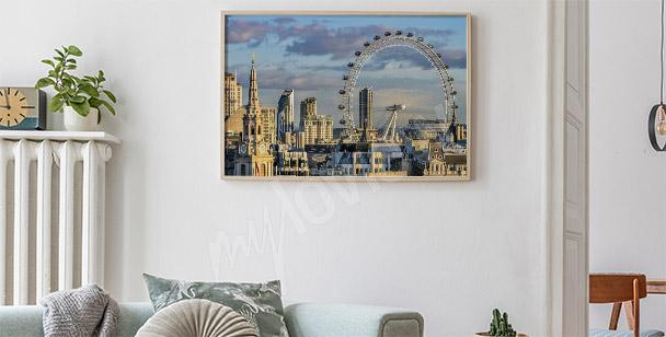Panoramatický plakát Londýn