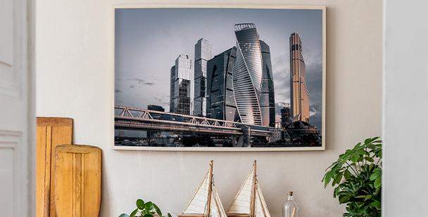 Panoramatický plakát město