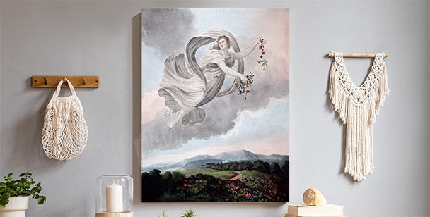 Pastelový obraz s andělem