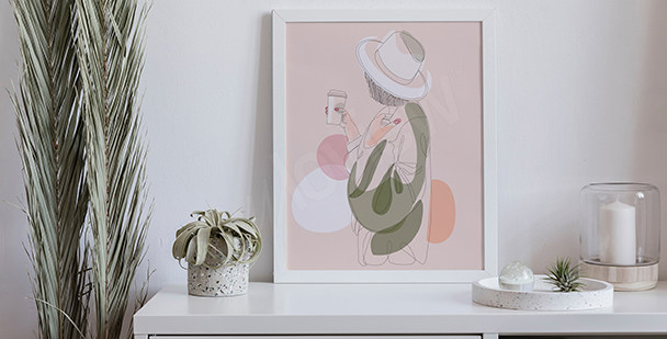 Pastelový plakát do ložnice