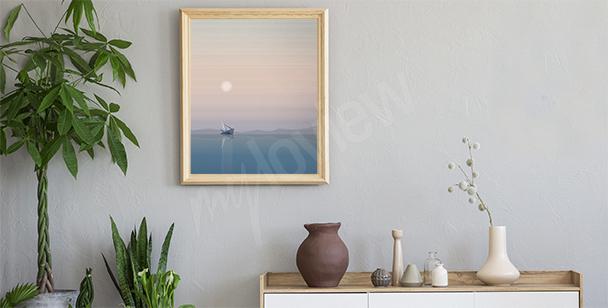 Pastelový plakát s mořem
