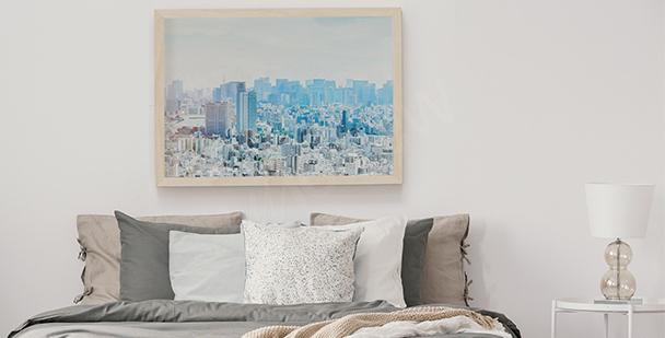 Pastelový plakát skyline