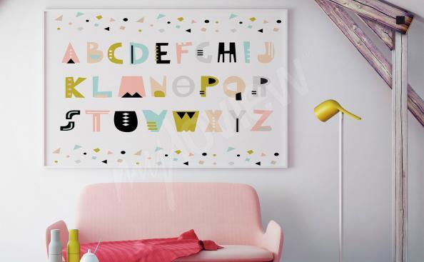 plakát abeceda do dětského pokoje