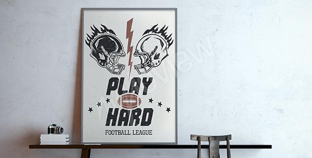 Plakát americký fotbal