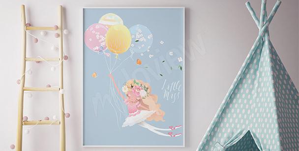 Plakát baletka s balóny