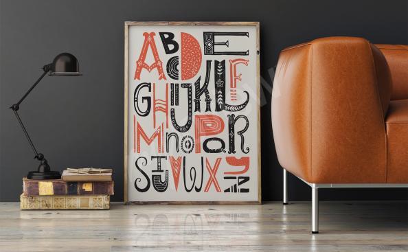 Plakát barevná abeceda