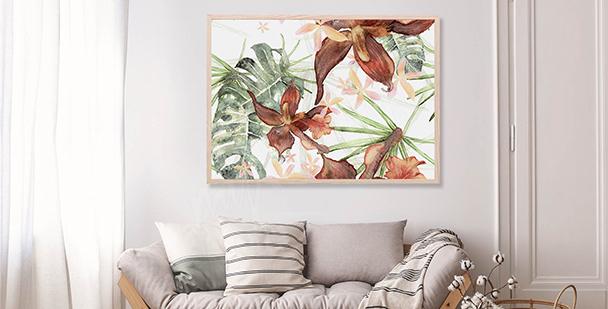 Plakát botanická ilustrace