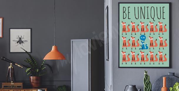 """Plakát """"Buďte originální"""""""