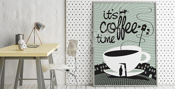 Plakát čas na kávu