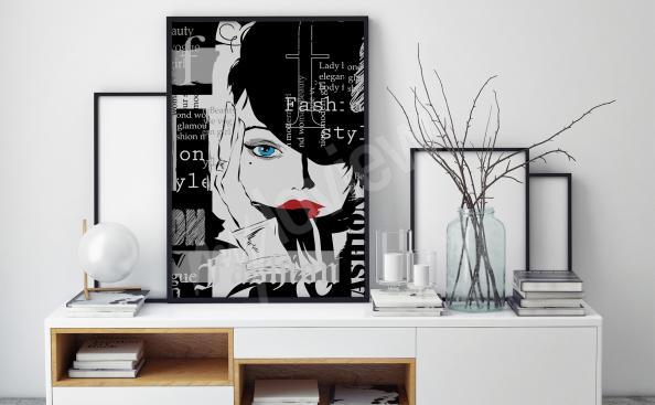 Plakát černobílý
