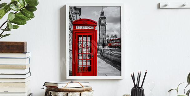 Plakát červená telefonní budka