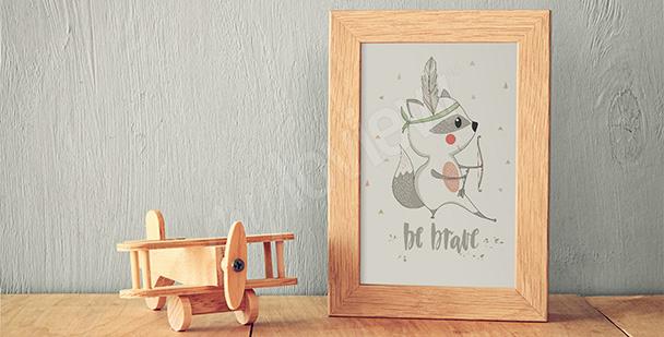 Plakát do dětského pokoje – medvídek mýval