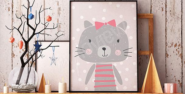 Plakát do dětského pokoje pastelové barvy