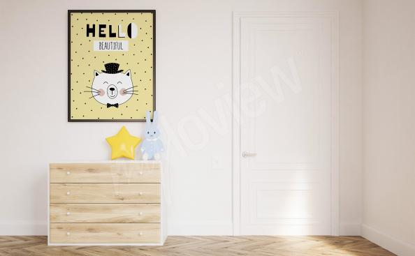 Plakát do dětského pokoje s kočkou