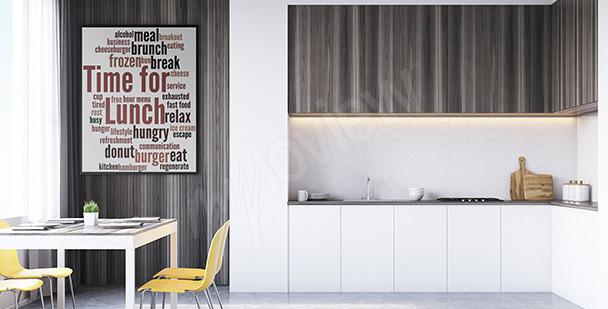 Plakát do kuchyně typografie
