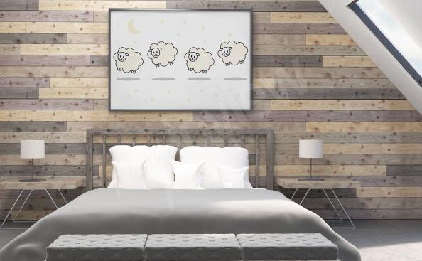 Plakát do ložnice ovečky