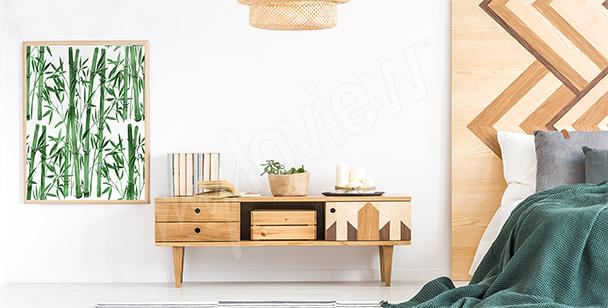 Plakát do ložnice s bambusem