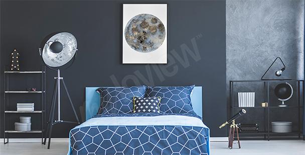 Plakát do ložnice s měsícem