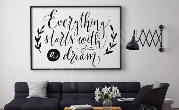 Plakát do obývacího pokoje citát