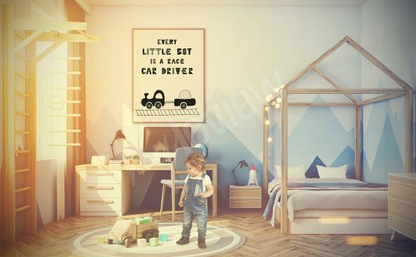 Plakát do pokoje chlapce s vlakem