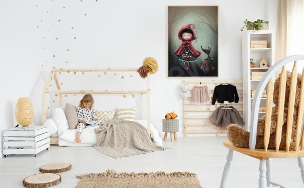Plakát do pokoje holčičky Červená Karkulka