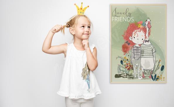 Plakát do pokoje holčičky přátelé