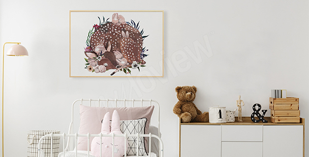 Plakát do pokoje holčičky: srna