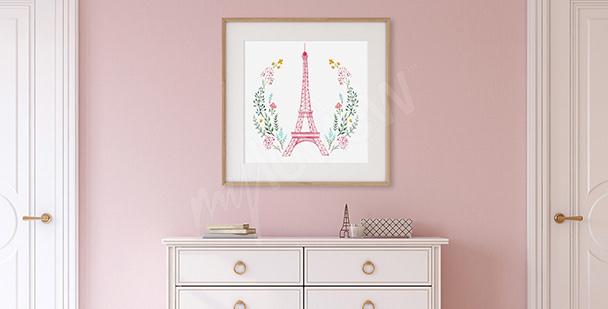 Plakát do předsíně Eiffelova věž
