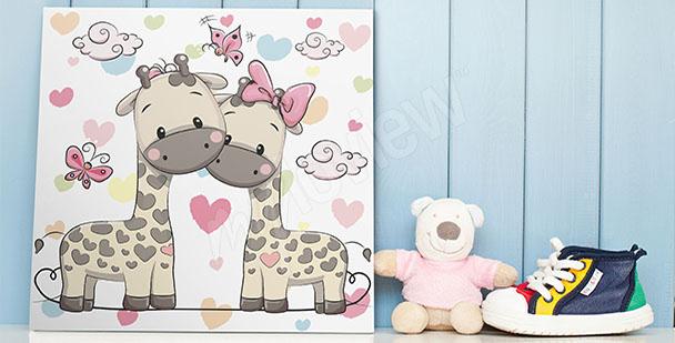 Plakát dvě žirafy