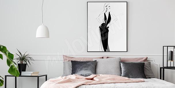 Plakát elegantní žena