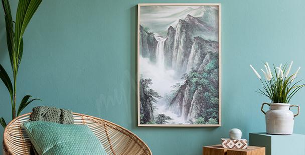Plakát horská krajina