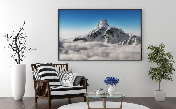 Plakát hory a mraky