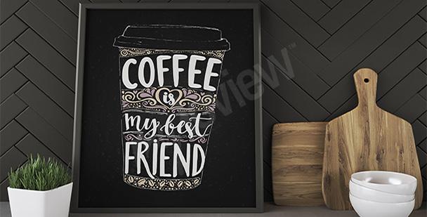 Plakát hrnek kávy