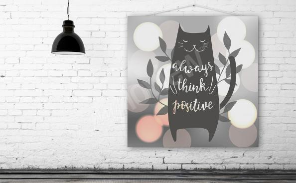 Plakát ilustrace s kočkou