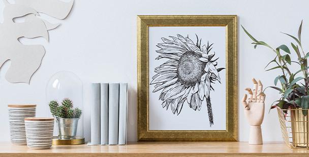 Plakát ilustrace slunečnice