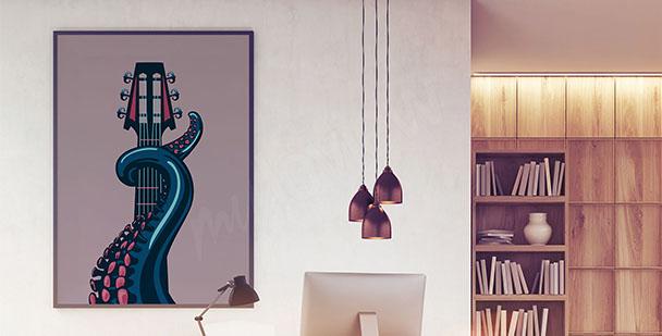 Plakát inspirovaný hudbou