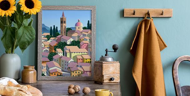 Plakát italská architektura