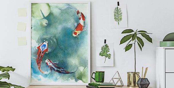 Plakát japonské ryby