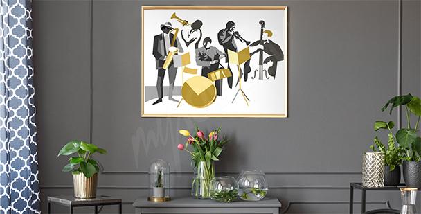 Plakát jazzoví muzikanti