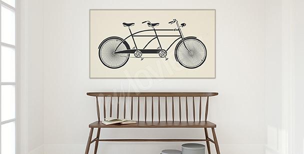 Plakát jízdní kolo ve stylu vintage
