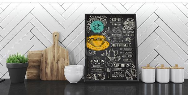 Plakát káva a menu