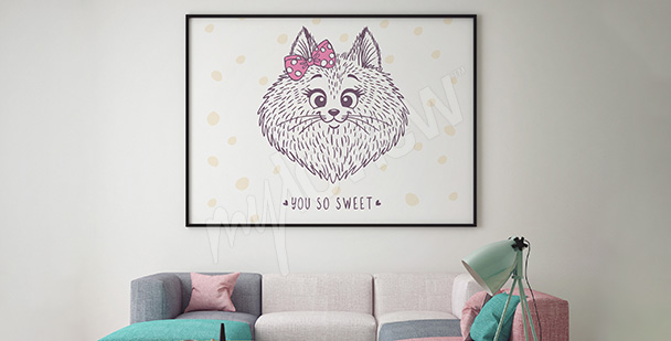 Plakát kočka do pokoje holčičky