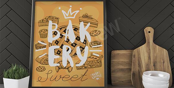 Plakát koláče a sušenky