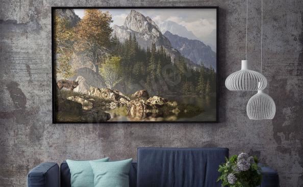 Plakát krajina - hory