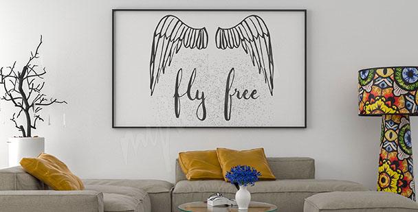 Plakát křídla anděla